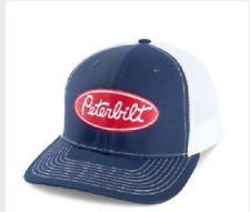 Peterbilt trucks blue / White Mesh back Richardson diesel base ball cap hat