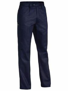 Bisley Work Pants Workwear Original Cotton Drill Work Pant NAVY BP6007 117S