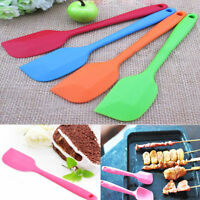 Silicone Baking Tool Cake Cream Butter Spatula Mixing Batter Scraper Brush NT