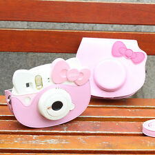Cartoon Leather Camera Case Bag For Fujifilm Instax mini Hello Kitty 40 Years