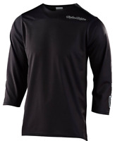 TROY LEE DESIGNS TLD MENS BLACK RUCKUS SOLID MTB CYCLING JERSEY LARGE