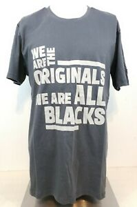 Adidas Rugby World Cup New Zealand All Blacks Team T-shirt Gray Size Large
