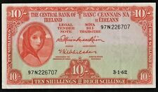 IRELAND  1962   10/ SHILLINGS (97N)  LADY  LAVERY    BANKNOTE