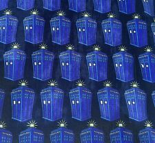 Doctor Who Police Box fabric 1/4 yard Dr who Perfect For Masks 100% Cotton
