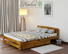 *NODAX* New Solid Wooden Pine Double Bedframe 4ft6in ^Option - Under Bed Drawer^