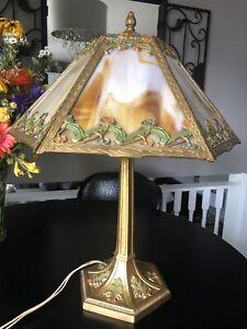 Antique Slag Glass Table Lamp (Bradley Hubbard/Miller?)