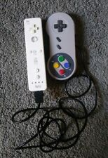OEM Original Nintendo Wii & TTX SNES Controller White /gray pre owned