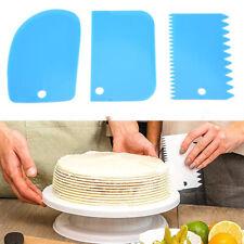 3 Pcs Dough Cutter Cake Bread Slicer Baking Pastry Scraper Plastic Spatula Tools