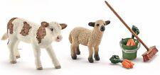 SCHLEICH®  Farm Life 41422   Stallpflege mit Kalb und Schäfchen, NEU & OVP