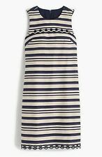 J.CREW Striped Scalloped Dress With Gromments/size 4 /