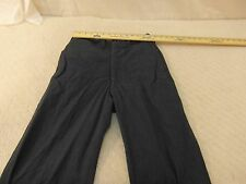 Vintage Military Surplus 100% Wool Serge Blue 84 18OZ. 30 X 31 Trousers Pants