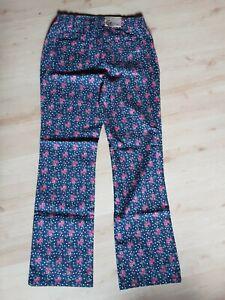 Himmelblau Lola Paltinger Jeans,70er Hippie Look,Rosen,Blümchen...