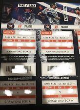 2019 Astros Season Ticket - pick the game - mint, season style Lindor 100th HR