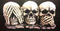 See No Speak No Hear No Evil Skull Trio Skulls