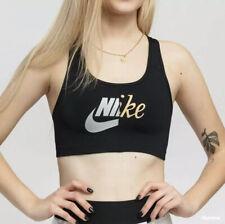 Nike Womens Black Swoosh Sport Bra Dri-Fit Size XL (CJ5248-010) New Genuine