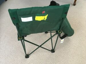 Masters Augusta National Golf Club Green Folding Camp Chair With Carry Bag