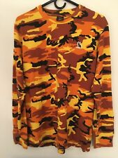 Drake OVO Orange Camo Long Sleeve Shirt Medium