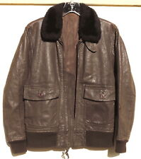 VTG WWII US Navy G-1 Men XS-Women M Leather Military Flight Bomber Pilot Jacket