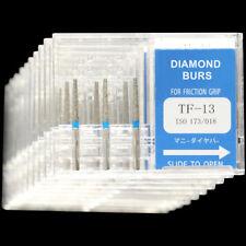 10 Boxes Tf 13 Mani Dia Burs Fg 16mm Dental High Speed Handpiece Diamond Bur