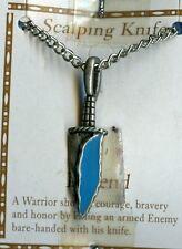 Scalping Knife Turquoise Pendant Necklace