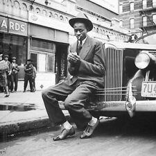 Satchel Paige in a photo taken in Harlem in 1941