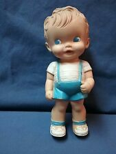 Vintage 1950's Ruth Newton Sun Rubber Co. 8 Inch Boy Squeak Toy Doll works