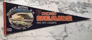 CHICAGO BEARS SUPERBOWL 20 STADIUM ONLY PENNANT