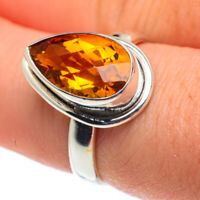 Mandarin Citrine 925 Sterling Silver Ring Size 8 Ana Co Jewelry R62625F