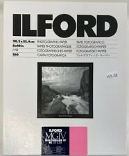 "Ilford 8 x 10"" Multigrade IV RC DLX B&W Darkroom Paper 100 Sheets Glossy 1770340"