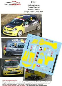 Decals 1/43 Ref 2151 Renault Clio R3 Arzeno Rally Mounted Carlo 2009 Irc Rally