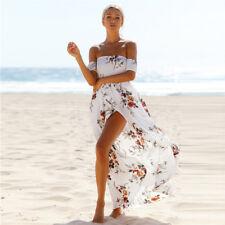 Bohemian Floral Print Backless Summer Long Sexy Women Dress Maxi Beach Dresses