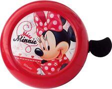 Timbre Infantil Niña para Bicicleta Acero Metal con Abrazadera Minnie Mouse 6168