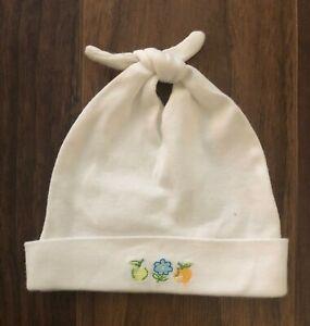 Gymboree NAUTICAL 2001 Baby Girl 0-3 Mos Beanie Cap Hat Newborn Layette Fruit