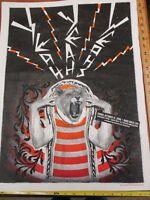 2006 Rock Roll Concert Poster Yeah Yeah Yeahs T Scott SN LE#90 Hard Rock