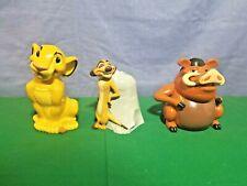 3 Lion King Non Working Container Cookie Jars Simba Timon Pumbaa Keebler