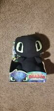 """New in Box 10"""" Squeeze & Growl Toothless Black Dragon Plush How Train Gift Noise"""