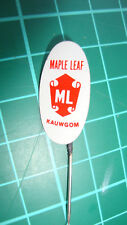 Maple Leaf ML kauwgom stick pin badge 60's original chewing gum speldje