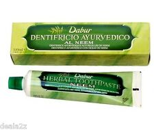 3 x 100ml Dabur Neem Herbal Toothpaste tooth paste for Teeth & Gums USA SELLER