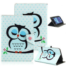 "For 7"" 8"" 10.1"" inch Tablet Cartoon Sleep Owl Universal Leather Case Stand Cover"