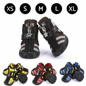 4pcs Breathable Reflective Dog Shoes Puppy Cat Boots Outdoor Dog Sport Shoes New
