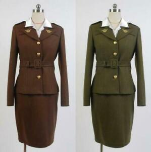 Avengers Captain America Agent Peggy Carter Cosplay Costume