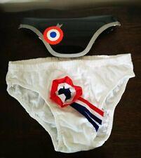 Vintage Années 70/80 Neuf Slip Blanc Homme France Humour Cadeau Mariage... LMP