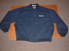 ARAMARK SEARS AUTO AUTOMOTIVE JACKET COAT w/logo; Navy Blue, 2XL