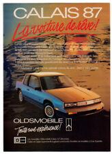 1987 OLDSMOBILE Calais GT Vintage Original SMALL Print AD Beach car photo canada