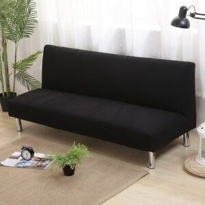 Solid Color Sofa Covers Without Armrest Elastic Tight Wrap Couch Cover Stretch