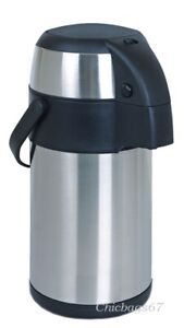 3Litre Pump Action Air Pot Vacuum Flask Thermos Jug Insulated Air Pot Tea Coffee