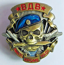 Russian VDV Airborne Forces Large Heavy Metal Screw Back Original Badge