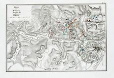 1857 Heilsberg Ostpreußen Lidzbark Warminski Polen Kupferstich-Plan