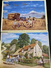 2 X 500 Job Lot Jigsaws The Milk Round And A Well Earned Break JR Puzzles