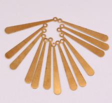 100PCS single hole long article pendant  jewelry copper earrings accessorie 30mm